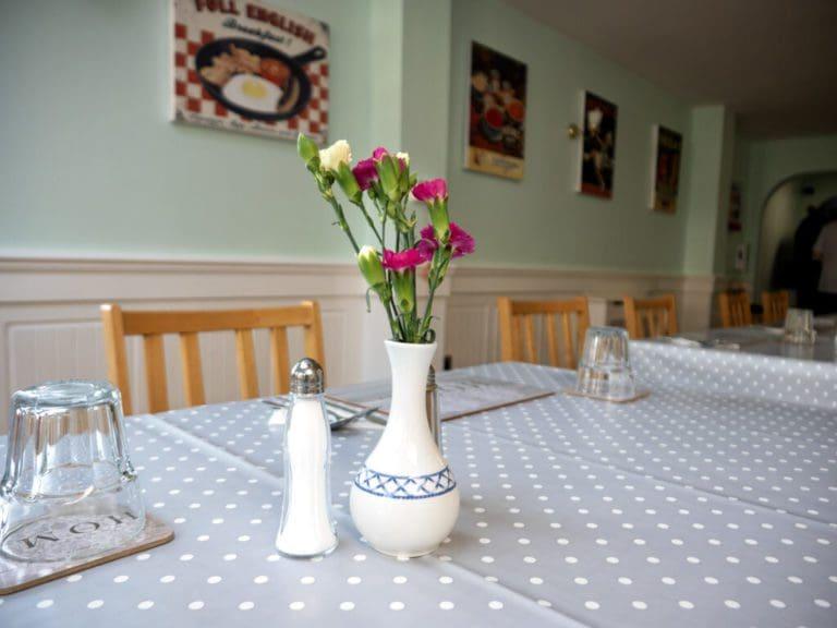 Bluebell Nursing Home kitchen table