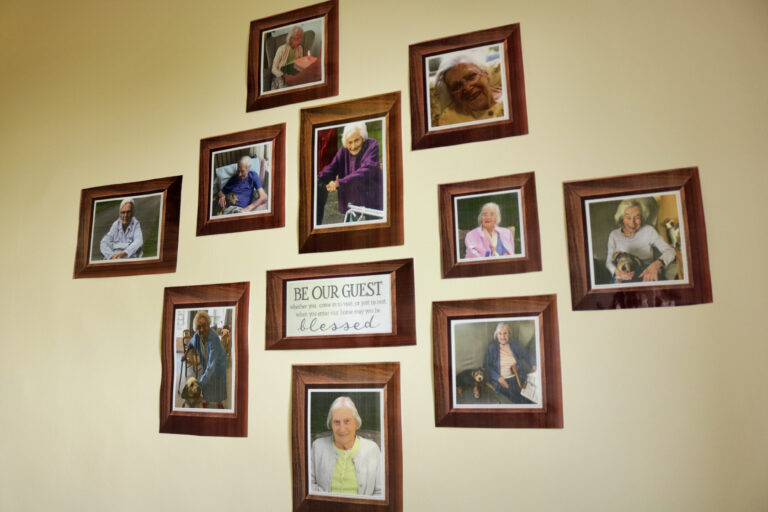 Roselands Residential Home picture wall