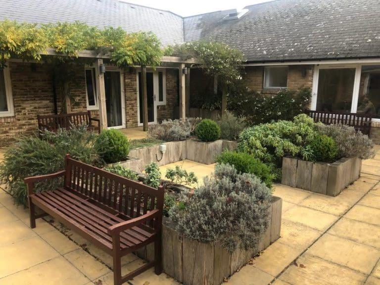 Hartley House Residential Home garden